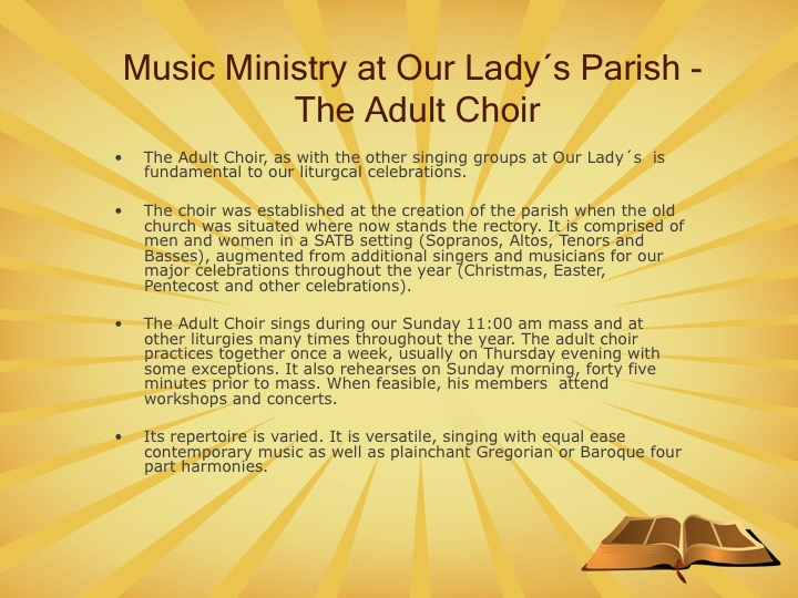 Our Lady Comforter of the Afflicted: Adult Choir