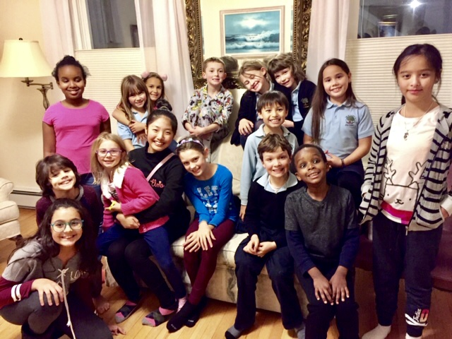 Some members of Children Choir at rectory pizza party along with their families. Friday Nov 30