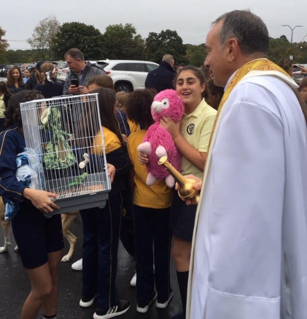 Blessing of Animals @ Our Ladys Academy on 10/01/19 by Fr.Diperri
