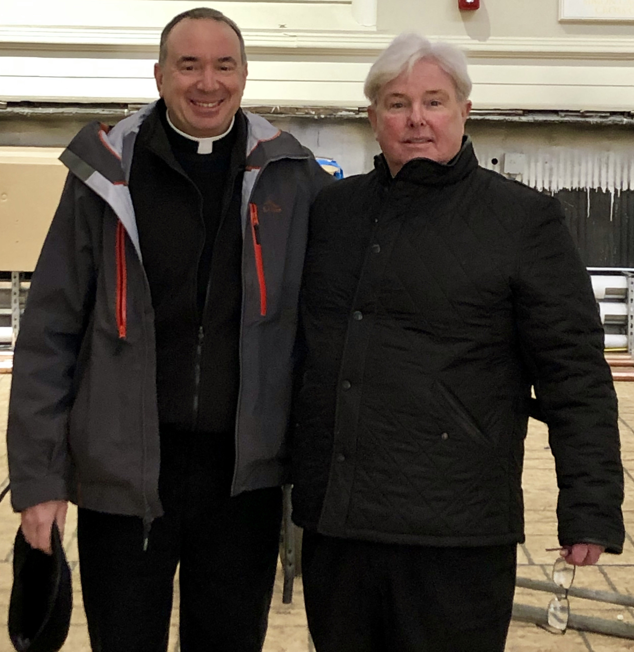 Work continues on restoring and upgrading the Cathedral under the direction of Fr Kevin O'Leary, Cathedral Rector.  Fr O'Leary gave tour of the extensive and much needed project on Wednesday Dec 12